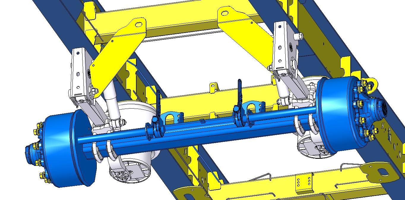 3D модель прицепа (подвеска оси)