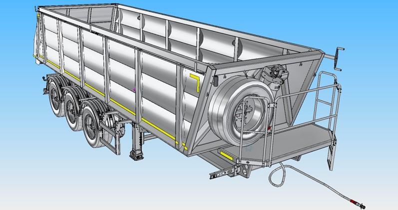 Модель полуприцепа-самосвала РИАТ модели 924900