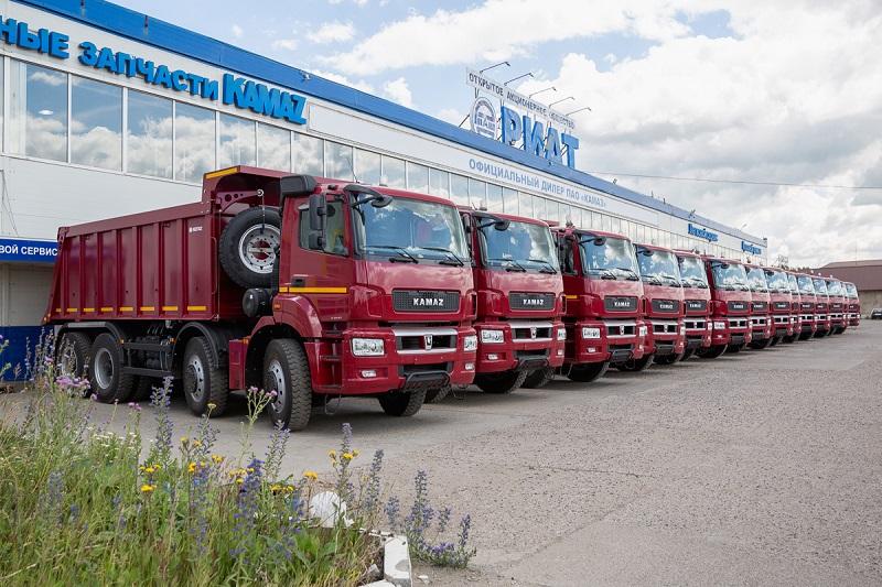 15 самосвалов нового модельного ряда КАМАЗ 65801-Т5
