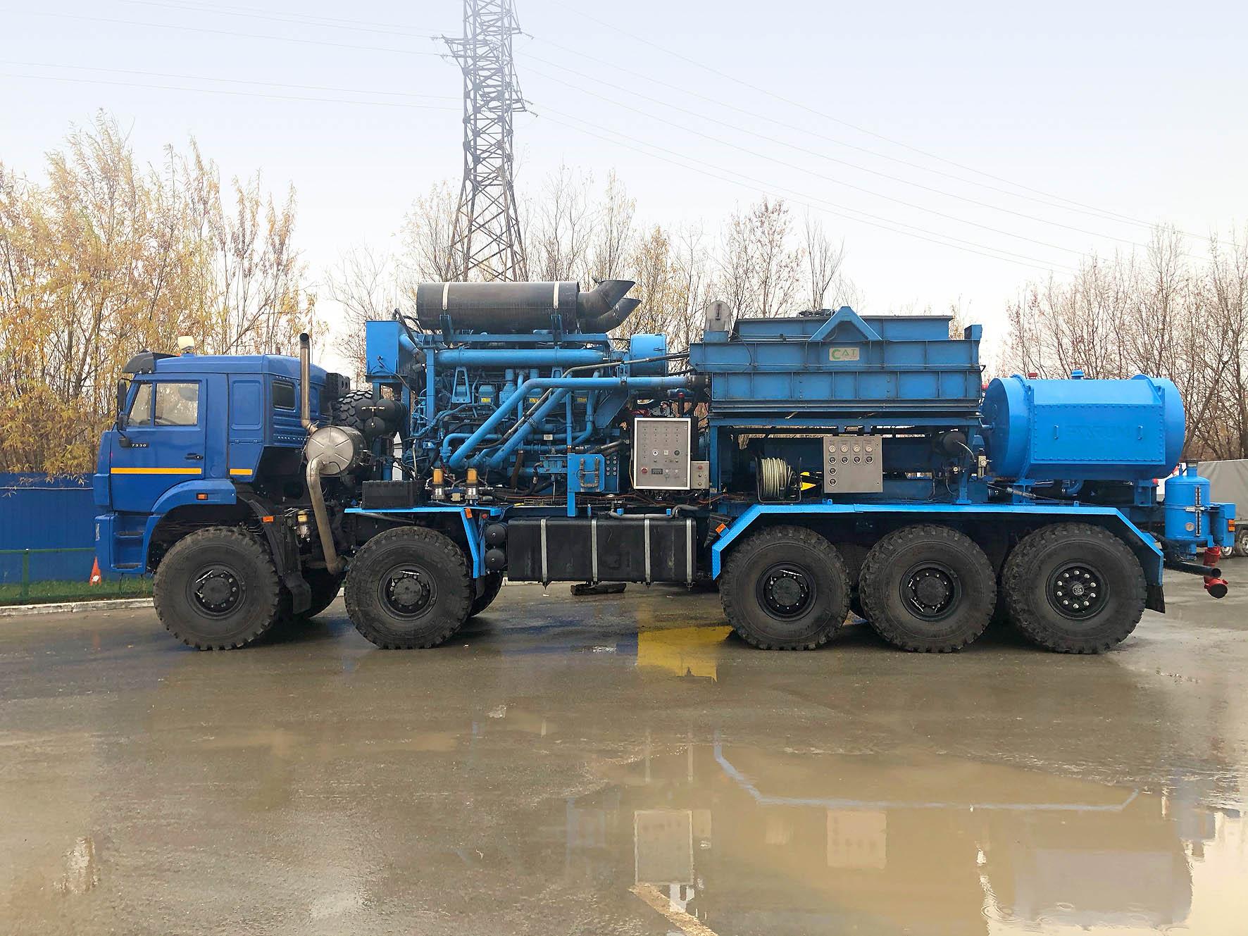 Спецшасси КАМАЗ-РИАТ 7330 с надстройкой для ГРП