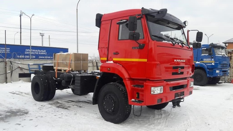 шасси КАМАЗ 5387 с двигателем Cummins ISL340 50