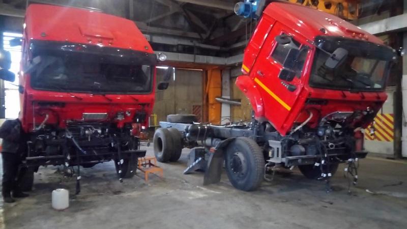 шасси КАМАЗ 5387 с двигателем Cummins ISL340 50 в разборе